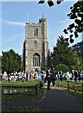 TL3706 : St Augustine's Church, Church Fields, Broxbourne by Christine Matthews