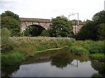 SP2180 : Railway bridge over the River Blythe by Simon Jobson