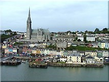 W7966 : St Colman's Cathedral and the town of Cobh, Cork Harbour, County Cork by Ralph Rawlinson