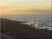 NZ6025 : Looking North West from Redcar Sea Front into the Sunset by Nick W