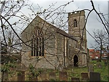 SK7961 : Church of St. Giles, Cromwell by Christine Hasman