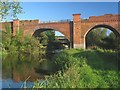 SU4726 : Hockley Viaduct spans River Itchen by Peter Facey