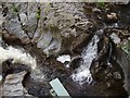 SN7873 : Carved-out rocks in the river Ystwyth by Rudi Winter