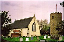 TM3973 : St Andrew's Church, Bramfield, Suffolk by Christine Matthews