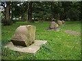 NY3956 : Eden Benchmarks, Bitts Park, Carlisle by John Gibson