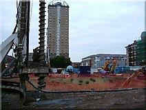 TQ3581 : Redevelopment in Shadwell by Glyn Baker