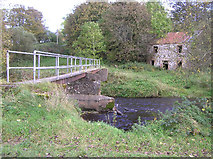 H5371 : Footbridge at Bancran, Drumduff by Kenneth  Allen