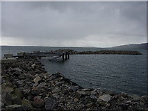 NF7810 : Storm Damage to breakwater by Hugh Venables