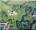 NY5329 : River Eamont at Brougham Castle, Cumbria by Simon Ledingham