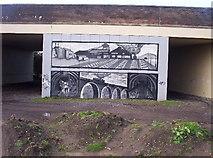 NZ2672 : Mural on Motorway Flyover by Weston Beggard