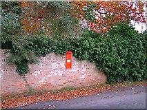 NZ3411 : Victorian Post Box, Low Dinsdale by mark harrington