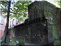 NZ2464 : City Wall, St.Andrew's Churchyard by Alan Fearon