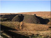 SE0210 : Spoil heap over railway tunnels, Marsden by Humphrey Bolton