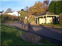 SO7643 : Upper Colwall Memorial Bus Shelter by Bob Embleton