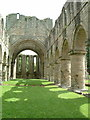 SJ6404 : Buildwas Abbey - Nave by Rob Farrow