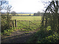 TL4161 : Farmland with farm gate, Girton, Cambs by Rodney Burton