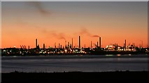 SU4604 : Fawley Oil Refinery at dusk by Peter Facey