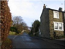 SE1614 : Sharp Lane Almondbury by Sue Trescott