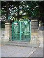 NZ2557 : St. Andrews Lamesley church gates by Stephen Daglish