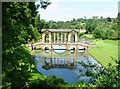 ST7663 : The Palladian Bridge, Prior Park Garden, Bath by Dave Napier