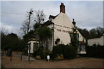 SU9185 : The Feathers Public House, opposite Cliveden entrance by Stephen Daglish