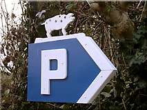 SY5697 : Locally themed parking sign in Toller Porcorum by Jim Champion