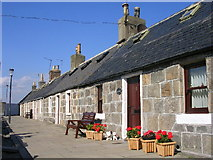 NJ9505 : Cottages at Footdee by Richard Slessor