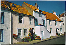 NO5201 : St Monans, old cottages on harbourside. by Colin Smith