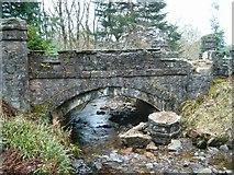 NM9609 : Damaged parapet on bridge at Eredine by Patrick Mackie