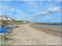 NO4202 : Looking east on Lower Largo beach by Norrie Adamson