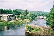 NN9357 : Pitlochry  Festival Theatre & Dam by Norrie Adamson