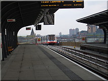 TQ4180 : Pontoon Dock Station, Docklands Light Railway by Timothy Baldwin
