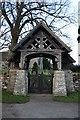 NY4826 : Inscribed Lych Gate by Bob Jenkins