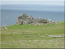 HU5966 : Croft House ruin, Skaw, Whalsay by John Dally