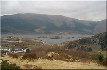 NN0858 : Looking north to Loch Leven. by Gwen and James Anderson