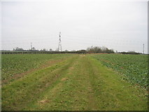SP6829 : Field track looking north by Pip Rolls