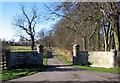 NZ1575 : Gates and Drive to Benridge Hall by Alan Fearon