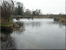 TG1712 : Costessey weir by Katy Walters