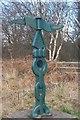 SK5971 : Milepost at Hazel Gap by Ann B