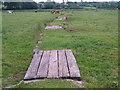 SX9797 : Footpath across meadow near Broadclyst by Derek Harper