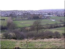 SE1421 : View over the valley westwards from Toothill, Rastrick, Yorkshire by Humphrey Bolton