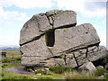 SD9841 : The Hitching Stone, Keighley Moor by Richard Swales