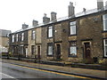 SD7812 : Stone terraced houses with gardens, Tottington by Margaret Clough