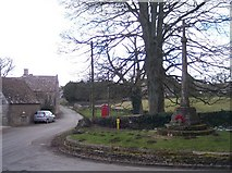 SO9312 : Brimpsfield Village Street and War Memorial by Bob Embleton