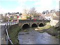 ST6834 : Old bridge over the River Brue, Bruton by Martin Southwood