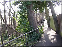 SE1321 : Footpath from Chapel Croft to Ogden Lane, Rastrick (SE139214) by Humphrey Bolton