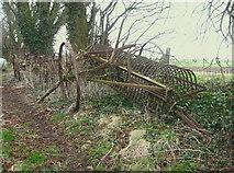 NT5675 : Hay Rake at Nether Hailes Farm by Lisa Jarvis