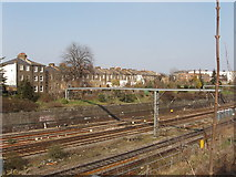 TQ2081 : Railway at Acton, with York Road beyond by David Hawgood