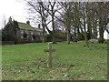 NZ1118 : Cross : Cleatlam Village Green by Hugh Mortimer