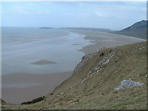 SS4088 : Rhossili Bay beach looking north from Old Castle by John Phillips